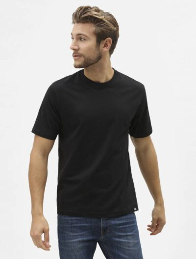 Dickies מארז 3 חולצות טי לבן,שחור,אפור COLAR NECK דיקיס